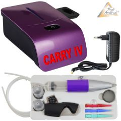 Profi-AirBrush Set Carry IV-TC violett mit TORTEN-DECO-Airbrush Set