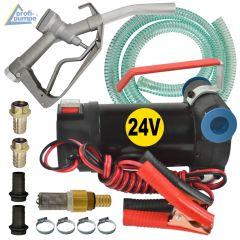 Dieselpumpe Diesel Star 160-1-4 - 24V-Pumpe mit Saug- und Druckschlauch, Pistole und Zubehör
