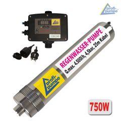Tauchpumpe Regen-Star-SUPER 750 mit 25m Kabel und INVERTER-Pumpensteuerung 2-0,75KW verkabelt