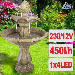 Gartenbrunnen & Wasserspiel KLASSIK-GARTEN-3 mit LED-Licht