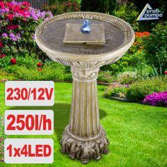 Gartenbrunnen & Wasserspiel LIEBES-BRUNNEN mit LED-Licht