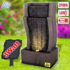 Solar - Gartenbrunnen & Wasserspiel RHEIN-GOLD mit Li-Ion-Akku