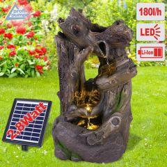 Solar - Gartenbrunnen & Wasserspiel WALD-GEFLÜSTER mit Li-Ion-Akku