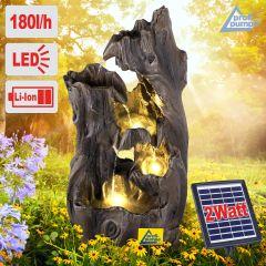 Solar - Gartenbrunnen & Wasserspiel WALD-ZAUBER mit Li-Ion-Akku