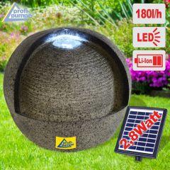 Solar - Gartenbrunnen & Wasserspiel LEBENS-QUELLE mit Li-Ion-Akku