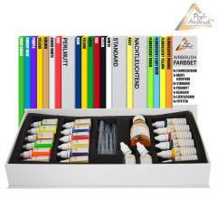 Airbrush Farben Alkoholbasis 19-er GESCHENK-Set mit Zubehör