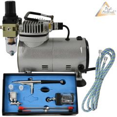 Profi-AirBrush Kompressor Compact Set I mit Zubehörauswahl