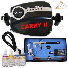Profi-AirBrush Carry II Color II mit 4 Farben Set