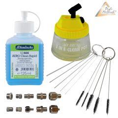 Profi-AirBrush Reinigungs Zubehör Clean Set- Ideal für alle Airbrushpistolen