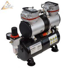 Profi-AirBrush Kompressor DUO-Power II mit Zubehörauswahl