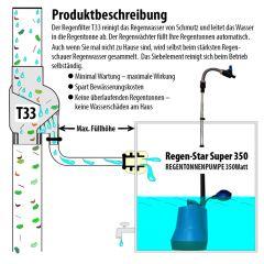 Regensammler Filter T 33 grau
