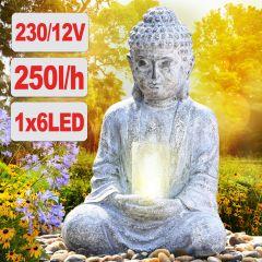 Gartenbrunnen ZHEN LEBENS-LICHT mit LED Licht